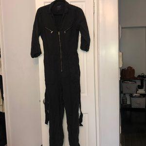 Black boiler suit